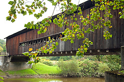 Benetka  Road Covered Bridge, a 138-foot-long Town Lattice with Arch style structure,  was built around 1900 to cross the Ashtabula River, south of Ashtabula, Ohio.