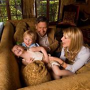 Dayna Devon, Brent Moelleken M.D.,  daughter, Emmi  and son Cole