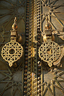 Morocco, Fez, detail of the Dar el-Makhzen's door (the Royal Palace).