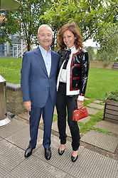 BOB & TAMARA MANOUKIAN at an Evening at The River Cafe in aid of the NSPCC held at The River Cafe, Thames Wharf, Rainville Road, London on 19th June 2016