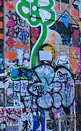 Graffiti in New York City on the corner of Spring and Elizabeth Street in a neighborhood known as NOLITA on the Germania Bank Building. The Germania Bank Building became a graffiti Mecca