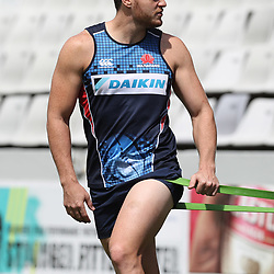 Jack Dempsey of the NSW Waratahs during the NSW Waratahs Cap Run at  Growthpoint Kings Park Durban , South Africa. March 9th 2017(Photo by Steve Haag)<br /> <br /> images for social media must have consent from Steve Haag