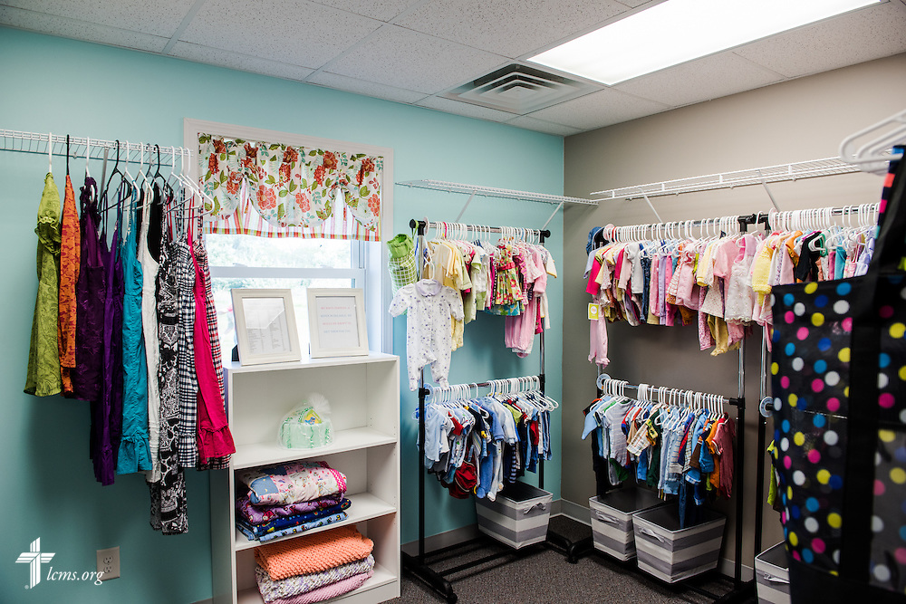 The boutique in the new Iowa Life Care (LC) Clinic on Saturday, Aug. 15, 2015, in Creston, Iowa. The clinic is a former Planned Parenthood facility. LCMS Communications/Erik M. Lunsford