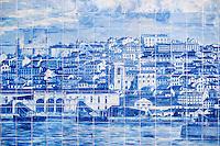 Portugal, Lisbonne, quartier de l'Alfama, azulejos illustrant la ville de Lisbonne // Portugal, Lisbon, Alfama,  azulejos depict Lisbon city