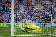 GOAL: Neal Maupay (Brighton) scores a goal to give Brighton the lead during the Premier League match between Brighton and Hove Albion and Burnley at the American Express Community Stadium, Brighton and Hove, England on 14 September 2019.