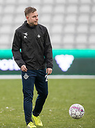 FODBOLD: Melvin Frithzell (FC Helsingør) under opvarmningen til kampen i ALKA Superligaen mellem OB og FC Helsingør den 11. februar 2018 på Odense Stadion, EWII Park. Foto: Claus Birch.