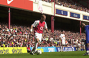 Premiership Football - Arsenal v Leicester City:.2003/04 Season - 15/05/2004  [Record breaking Season undefeated] .Fredrik Ljungberg, moving in from the wing.[Credit] Peter Spurrier Intersport Images