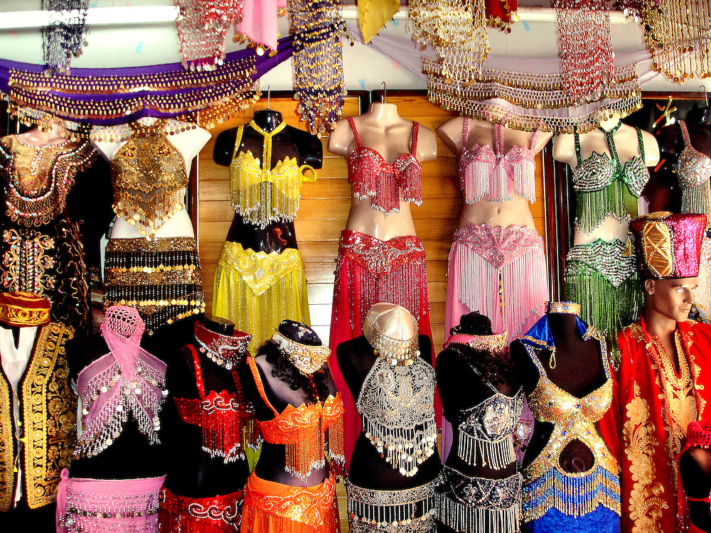 Belly Dancer Outfits on Display in Marmaris, Turkey<br />