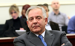 20.11.2012, Zagreb, CRO, Ehemalige Premierminister Ivo Sanader verurteilt, im Bild Ehemalige kroatische Ministerpräsident Ivo Sanader wurde am Dienstag von einem Kroatischen Gericht zu 10 Jahren Haft für die Annahme von Bestechungsgeldern verurteilt // Former Croatian Prime Minister Ivo Sanader was sentenced to 10 years in prison on Tuesday for taking bribes from two foreign companies, becoming the highest state official to be convicted of corruption in the future European Union member state.A Zagreb county court found Sanader guilty of taking payments from Austrian Hypo Alpe Adria Bank in 1995 and from Hungary's energy group MOL in 2008. Sanader has denied wrongdoing, dismissing the trial as politically motivated. Croatia is due to join the EU in July 2013. Its efforts to fight crime and graft will be carefully monitored // before then, Zagreb, Croatia on 2012/11/20. EXPA Pictures © 2012, PhotoCredit: EXPA/ Pixsell/ Zeljko Lukunic..***** ATTENTION - OUT OF CRO, SRB, MAZ, BIH and POL *****
