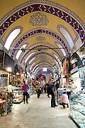 Turkey, Istanbul, Interior of the Grand Bazaar