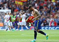 Sergio Ramos Spagna <br /> Toulouse 13-06-2016 Stade Municipal Footballl Euro2016 Spain - Czech Republic  / Spagna - Repubblica Ceca Group Stage Group D. Foto Matteo Ciambelli / Insidefoto