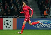 Fotball<br /> Tyskland<br /> 02.11.2010<br /> Foto: Witters/Digitalsport<br /> NORWAY ONLY<br /> <br /> Jubel 0:1 Torschuetze Nacer Chadli (Enschede)<br /> Champions League, Gruppenphase, SV Werder Bremen - Twente Enschede 0:2