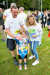 Brighton, UK. 25/06/2017, Runners take part in the first Brighton and Hove Go Dad Run charity run in Hove Park. The event is in aid of five charity partners dealing specifically with Cancer and is supported by founder Colin Jackson and fellow olympians Sally Gunnell and Mark Foster.  Photo Credit: Hugo Michiels Photography
