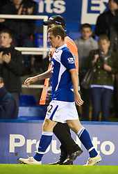 BIRMINGHAM, ENGLAND - Sunday, November 1, 2009: Birmingham City's Barry Ferguson walks off after being sent off during the Premiership match against Manchester City at St Andrews. (Pic by David Rawcliffe/Propaganda)