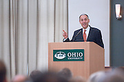 Ohio Board of Regents Chancellor Eric Fingerhut address the Ohio University community at 1:30 p.m. today in the Walter Hall Rotunda......Article before:..Sept. 26, 2007.Interview by Mary Reed..Ohio Board of Regents Chancellor Eric Fingerhut will address the Ohio University community at 1:30 p.m. today in the Walter Hall Rotunda to discuss his vision for the University System of Ohio and important changes it could bring. Outlook interviewed Fingerhut by phone Tuesday afternoon in advance of today's address and offers this Q&A...Address viewable online.Individuals on Ohio University's regional campuses and others also may view Wednesday's 1:30 p.m. address online. It will be streamed live at http://streaming.cns.ohiou.edu/.ChancellorFingerhut...What is the University System of Ohio?..The University System of Ohio is all of the public colleges and universities in the state of Ohio working together to provide a world-class higher education for all of the citizens of the state and to help drive the economy of the state to help create the innovations and job opportunities of tomorrow...What's your vision for the University System of Ohio?..Our vision is that we will have for this state a world-class system of higher education that makes us globally competitive and gives our citizens the opportunities they need to succeed. We believe that no single institution can provide all things that Ohio needs to compete -- but all of our institutions can. It would be impossible to create global expertise in every subject matter, but we believe statewide that working together we can be world-class in all of the areas that are necessary to compete...What are the areas necessary to compete?..We need to be technologically and scientifically advanced. We need to be aware of the cultures of the globe and languages of the globe. We need students who are prepared to think innovatively and entrepreneurially...It sounds like collaboration is the key...We're not competing against each other; we