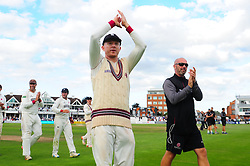 Chris Rogers of Somerset applauds the crowd.  - Mandatory by-line: Alex Davidson/JMP - 22/09/2016 - CRICKET - Cooper Associates County Ground - Taunton, United Kingdom - Somerset v Nottinghamshire - Specsavers County Championship Division One