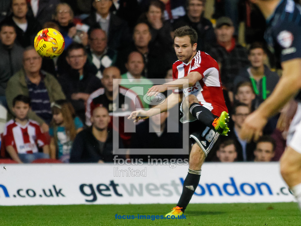 Alan Judge of Brentford during the Sky Bet Championship match between Brentford and Derby County at Griffin Park, London<br /> Picture by Mark D Fuller/Focus Images Ltd +44 7774 216216<br /> 01/11/2014