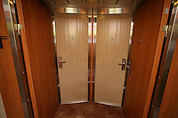 Celebrity Solstice Launch, Miami, Florida..Door system for adjoining rooms.