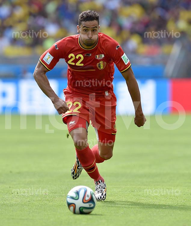 FUSSBALL WM 2014  VORRUNDE    Gruppe H     Belgien - Algerien                       17.06.2014 Nacer Chadli (Belgien) am Ball