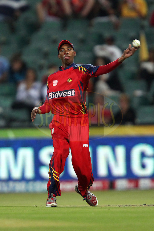 Aaron Phangiso during match 18 of the Airtel CLT20 held between the Lions and Royal Challengers Bangalore at The Wanderers Stadium in Johannesburg on the 21 September 2010..Photo by: Ron Gaunt/SPORTZPICS/CLT20