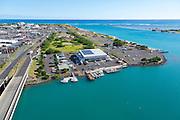 Aerial, Sand Island, Honolulu, Oahu, Hawaii