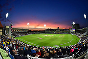 Sunset during the NatWest T20 Blast Quarter Final match between Notts Outlaws and Somerset County Cricket Club at Trent Bridge, West Bridgford, United Kingdom on 24 August 2017. Photo by Simon Trafford.