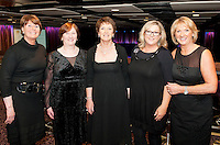 Galway Bay Golf Club Choir members Noleen BoylanDeirdre Timlin, Catherine Hartmann, Claire Molloy and Olive Breen  at the Radisson Blu Hotel for Galway 1st ever Choir Factor in aid of Kilcuan Retreat and Healing Centre in Clarinbridge, Co. Galway. The event organised by the Corrib Lions Club was won by the Marine Institute Choir directed by Carmel Dooley. Picture:Andrew Downes