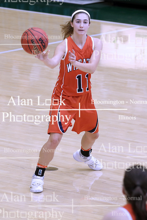 07 January 2017:  Chantal Meacham during an Wheaton Thunder and the Illinois Wesleyan Titans in Shirk Center, Bloomington IL