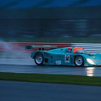 #14, Porsche 962, Leyton House 3.0, driver: Tommy Dreelan, Group C, at the Silverstone Classic 2017