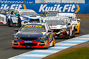 Andrew JORDAN BMW Pirtek Racing chases down the leader Rory BUTCHER Cobra Sport AmD AutoAid/RCIB Insurance during the Kwikfit British Touring Car Championship at Knockhill Racing Circuit, Dunfermline, Scotland on 15 September 2019.