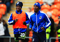 Bernard Mensah and Marc Bola of Bristol Rovers warm up - Mandatory by-line: Matt McNulty/JMP - 13/01/2018 - FOOTBALL - Bloomfield Road - Blackpool, England - Blackpool v Bristol Rovers - Sky Bet League One