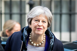 February 6, 2018 - London, London, UK - London, UK. British Prime Minister Theresa May arrives in Downing Street this morning. (Credit Image: © Tom Nicholson/London News Pictures via ZUMA Wire)