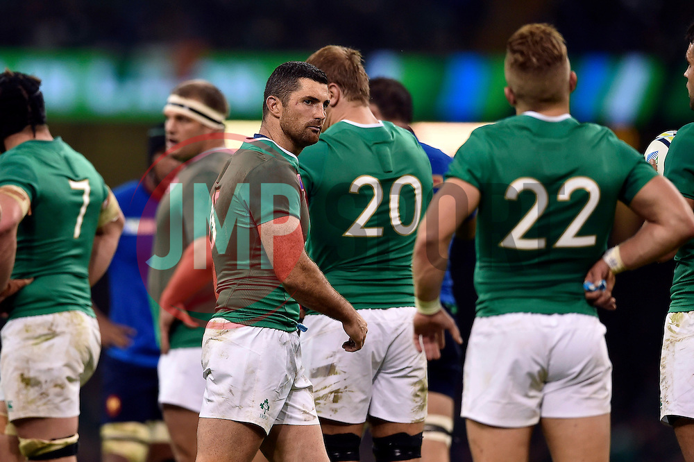 Rob Kearney of Ireland looks on - Mandatory byline: Patrick Khachfe/JMP - 07966 386802 - 11/10/2015 - RUGBY UNION - Millennium Stadium - Cardiff, Wales - France v Ireland - Rugby World Cup 2015 Pool D.