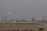 Dukhan oil field at dusk.