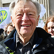 Lord Alf Dubs join London-Irish Abortion Rights Campaign join The colourful St Patrick Parade days 2017 was watched by thousands who line up the streets from Piccadilly to Trafalgar Square where speeches were made and a show with music and dane was given to the thousands who packed the square to celebrate St Patrick day 2019 on 17 March 2019, London, UK.