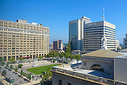 Wilmington Delaware's Rodney Square from the One Rodney Square Building in Wilmington, Delaware.  Photograph by Jim Graham