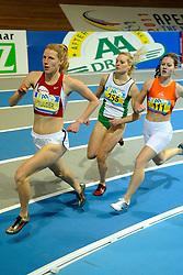 06-02-2010 ATLETIEK: NK INDOOR: APELDOORN<br /> Machteld Mulder op de 400 meter, Lonneke Derriks en rechts Diana Spaargaren<br /> ©2010-WWW.FOTOHOOGENDOORN.NL