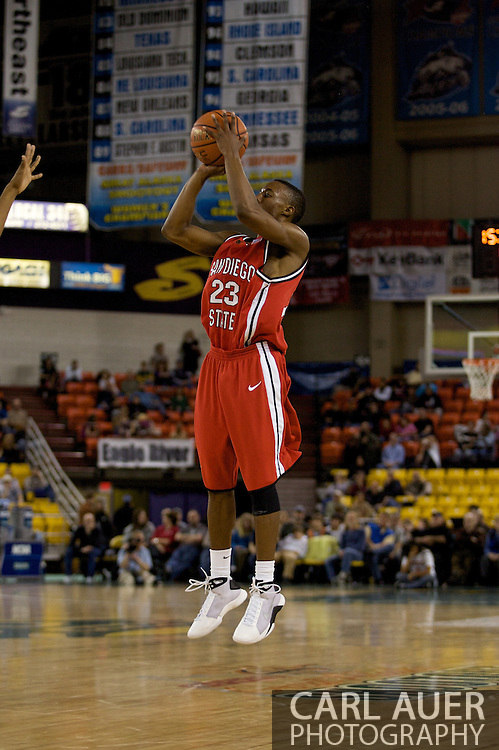 November 29, 2008: San Diego State guard D.J. Gay (23) in the championship game of the 2008 Great Alaska Shootout at the Sullivan Arena.  San Diego State would keep Hampton scoreless for most of the first 7 minutes of the game and never look back on the Aztec's run to the win Saturday night.