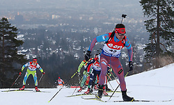 10.03.2016, Holmenkollen, Oslo, NOR, IBU Weltmeisterschaft Biathlion, Oslo, 20km, Herren, im Bild Evgeniy Garanichev (RUS) // during Mens 20km individual Race of the IBU World Championships, Oslo 2016 at the Holmenkollen in Oslo, Norway on 2016/03/10. EXPA Pictures © 2016, PhotoCredit: EXPA/ Newspix/ Tomasz Jastrzebowski<br /> <br /> *****ATTENTION - for AUT, SLO, CRO, SRB, BIH, MAZ, TUR, SUI, SWE only*****