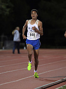 Mar 25, 2017;  Azusa, CA, USA; Justin Hazell of El Camino Real wins the 3,200m in 9:10.03 during the 26th Meet of Champions Distance Classic at Azusa Pacific University.