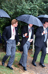 PRINCE WILLIAM & PRINCE HARRY at the wedding of Tom Parker Bowles to Sara Buys at St.Nicholas Church, Rotherfield Greys, Oxfordshire on 10th September 2005.<br />