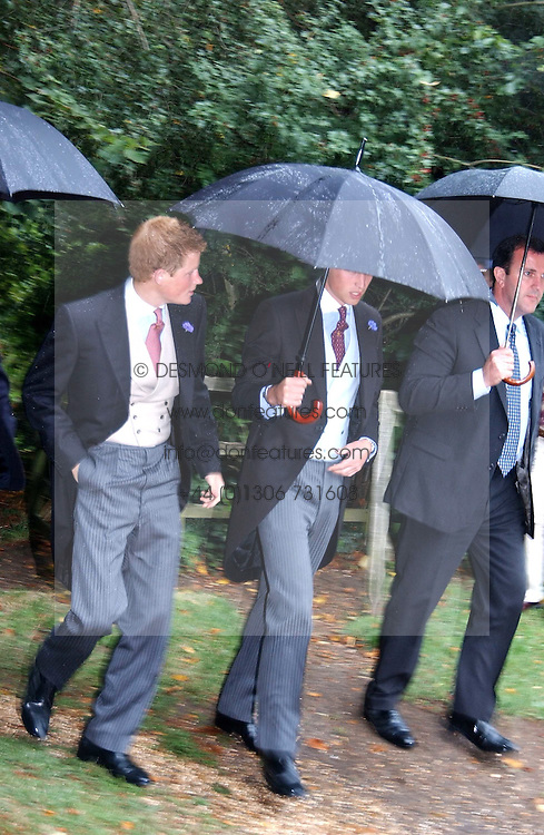 PRINCE WILLIAM &amp; PRINCE HARRY at the wedding of Tom Parker Bowles to Sara Buys at St.Nicholas Church, Rotherfield Greys, Oxfordshire on 10th September 2005.<br /><br />NON EXCLUSIVE - WORLD RIGHTS