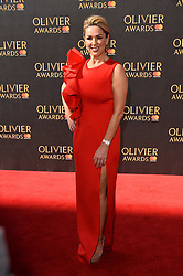 © Licensed to London News Pictures. 09/04/2017.  CLAIRE SWEENEY attends The Oliver Awards held at the Royal Albert Hall. London, UK. Photo credit: Ray Tang/LNP
