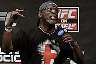 "NOTTINGHAM, ENGLAND, SEPTEMBER 28, 2012: Burt Watson warms up the crowd ahead of the official weigh-in for ""UFC on Fuel TV 5: Struve vs. Miocic"" inside the Capital FM Arena in Newcastle, United Kingdom on Friday, September 28, 2012 © Martin McNeil"