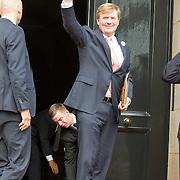 NLD/Amsterdam/20150624- Koning Willem-Alexander en Koningin Máxima ontvangen  het Corps Diplomatique voor het jaarlijkse galadiner in het Koninklijk Paleis Amsterdam. Koning Willem-Alexander