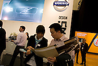 A rare buyer on the Volvo stand at the Shanghai autoshow 2009