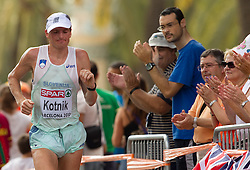 Robert Kotnik of Slovenia competes in the Mens Marathon during day six of the 20th European Athletics Championships at the roads of city Barcelona on August 1, 2010 in Barcelona, Spain. (Photo by Vid Ponikvar / Sportida)