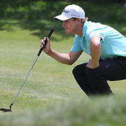 Bud Cauley, USA, in action during the final round of the Travelers Championship at the TPC River Highlands, Cromwell, Connecticut, USA. 22nd June 2014. Photo Tim Clayton