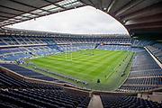 General view inside the BT Murrayfield Stadium, Edinburgh, Scotland before the Heineken Champions Cup quarter-final match between Edinburgh Rugby and Munster Rugby on 30 March 2019.