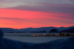 NORWAY HAMMERFEST 23MAR07 - General view of Melkoya island and Hammerfest, the world's most northerly town...jre/Photo by Jiri Rezac..© Jiri Rezac 2007..Contact: +44 (0) 7050 110 417.Mobile:  +44 (0) 7801 337 683.Office:  +44 (0) 20 8968 9635..Email:   jiri@jirirezac.com.Web:    www.jirirezac.com..© All images Jiri Rezac 2007 - All rights reserved.